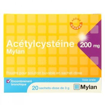 Acetylcysteine Mylan 200mg sachets