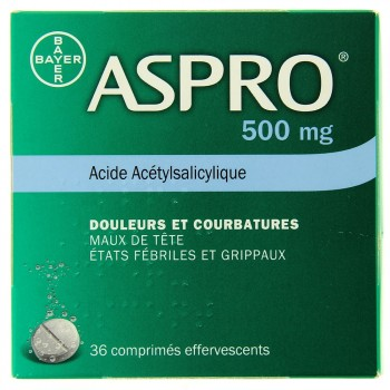Aspro 500mg 36cpr effervescents