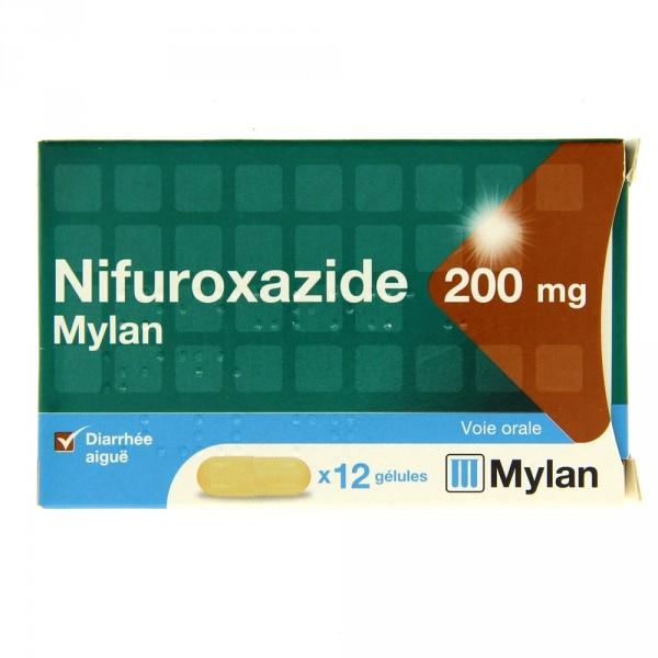 Enteral nifuroxazide 200 mg