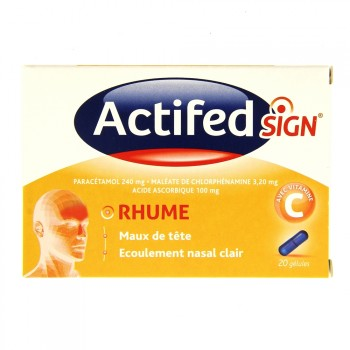 Actifed Sign Rhume 20 gélules