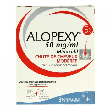 Alopexy 5% 50mg/ml 3x60ml
