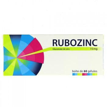 Rubozinc 15mg 60 Gélules