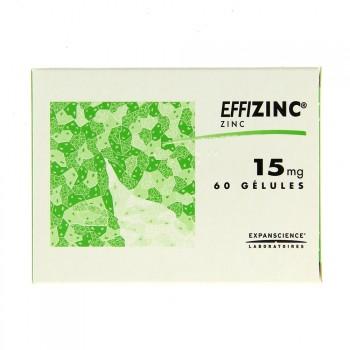 Effizinc 15mg 60gélules