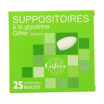 Suppositoire à la glycérine Gifrer x25