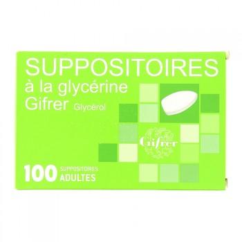 Suppositoire à la glycérine Gifrer x100