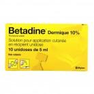 Betadine dermique 10% unidose
