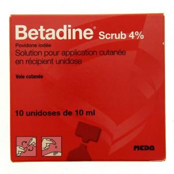 Betadine Scrub 4% 10 unidoses