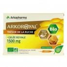 Arkoroyal Gelée royale Bio 1500mg x 20 ampoules - Sans sucre