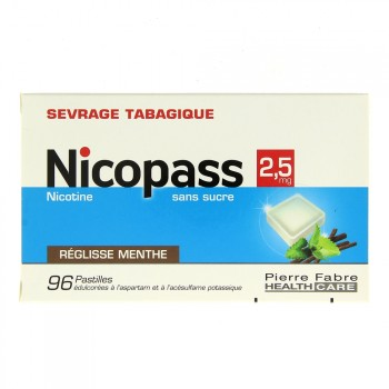 Nicopass 2,5 mg x96 Réglisse-Menthe