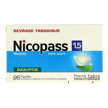 Nicopass 1,5mg x96 Eucalyptus