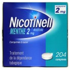 Nicotinell Menthe 2mg 204 comprimés