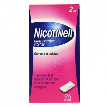Nicotinell Fruits exotiques 2mg 96 gommes