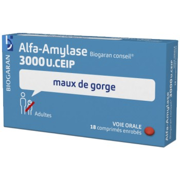 Alfa-Amylase Biogaran 3000U 18cpr