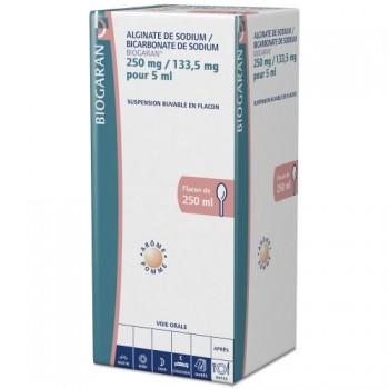 Alginate de sodium / Bicarbonate de sodium Biogaran 250ml