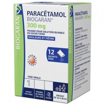 Paracétamol Biogaran 300mg 12sachets