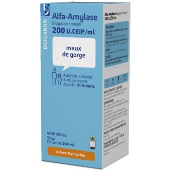 Alfa-amylase Sirop 200ml Biogaran