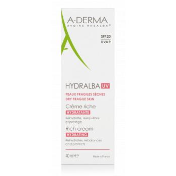 Hydralba Crème hydratante UV riche Aderma
