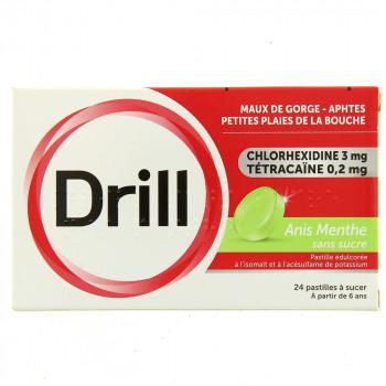 Drill x24 pastilles anis menthe sans sucre