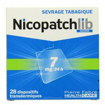 NicopatchLib 7mg Boîte de 28 patchs
