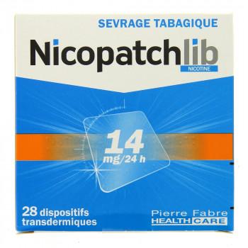 NicopatchLib 14mg Boîte de 28 patchs