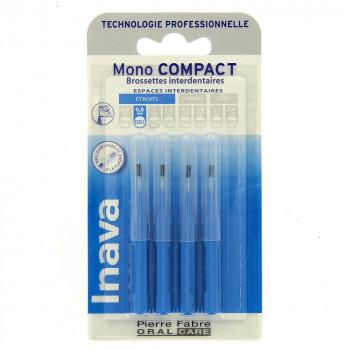 Brossettes Mono compact Bleu x4 Inava