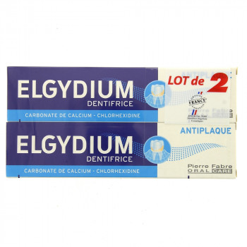 Elgydium dentifrice Anti-plaque 2x75ml