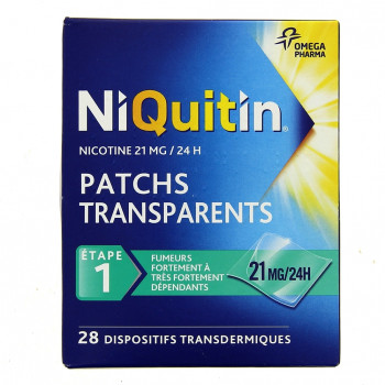 Niquitin 21mg x28 patchs