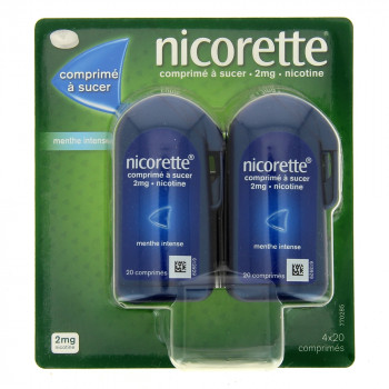 Nicorette 2mg Menthe x80 Comprimés à sucer