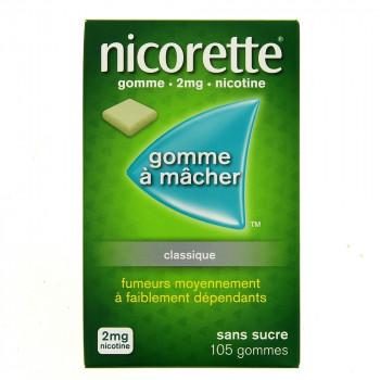 Nicorette 2mg classique x105 Gommes
