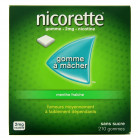 Nicorette 210 Gommes 2mg menthe...