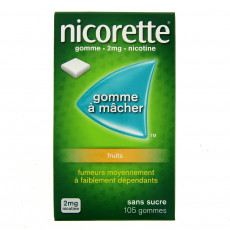 Nicorette 105 Gommes 2mg fruits