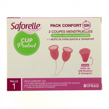 Saforelle 2 coupes menstruelles taille 1