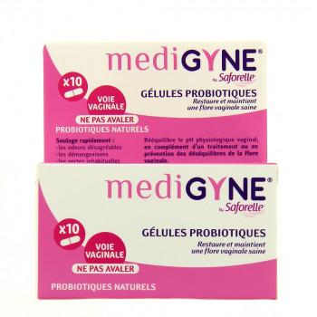 Medigyne x10 gélules probiotiques Saforelle