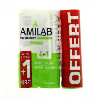 Amilab Stick Lèvres lot 2+1