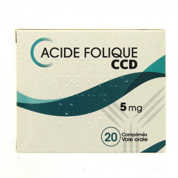 Acide folique CCD 5mg 20cpr