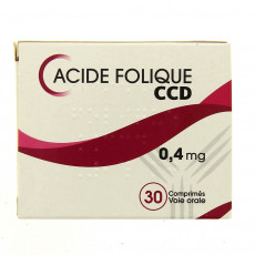 Acide folique CCD 0,4 mg 30cpr