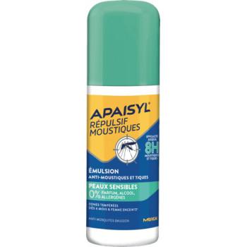 Apaisyl Répulsif Moustiques Emulsion Peaux sensibles 90ml