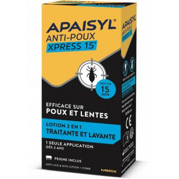 Apaisyl anti-poux Xpress 15' 200ml + Peigne