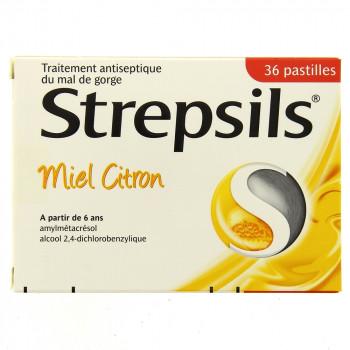 Strepsils Pastilles Miel Citron x36 pastilles