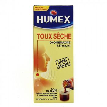 Humex sirop toux sèche Oxomémazine sans sucre 150ml