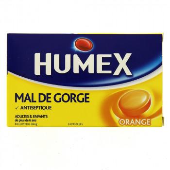 Humex Mal de gorge orange x24