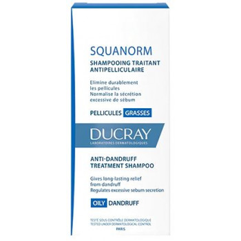 Squanorm Pellicules grasses shampooing 200ml Ducray