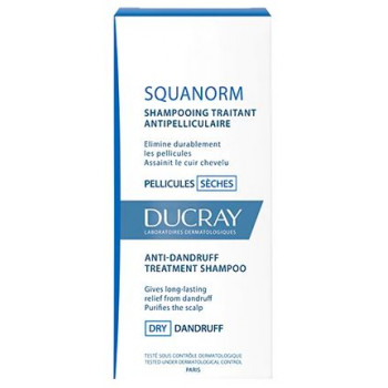 Squanorm Pellicules sèches shampooing 200ml Ducray