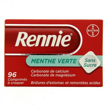 Rennie Menthe verte 96cpr