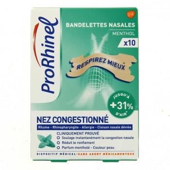 ProRhinel Bandelettes nasales menthol x10