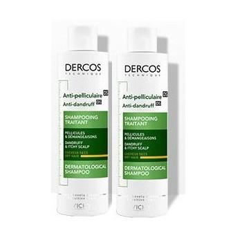 Dercos Anti-pellicule cheveux secs 2x200ml Vichy