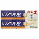 Elgydium dentifrice protection caries lot 2x75ml