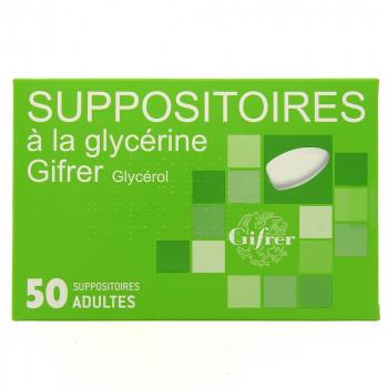 Suppositoire à la glycérine Gifrer x50