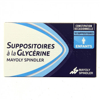 Suppositoires à la glycérine Enfants x10 Mayoly