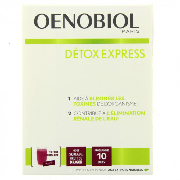Oenobiol Détox Express x10 sticks Sureau & Fruit du dragon